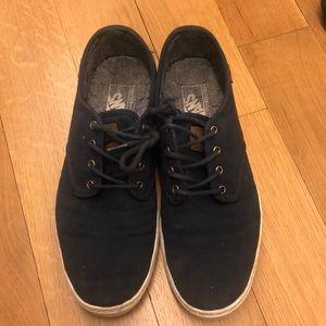 651f511727 Blue lace up vans